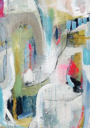 80's Playlist Painting by Jackie Impey