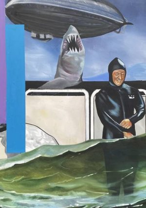 Disaster Film Painting by Scott Hunter