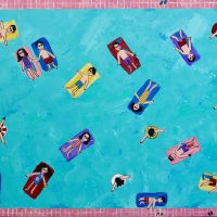 Everybody in the Pool Painting Brian Nash