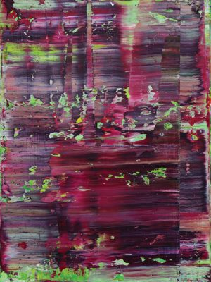 Koen-Lybaert---Red-violet-on-green-I-Abstract-N2371