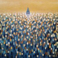 Open Water (Ochre) Painting Martin Packford